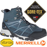 【MERRELL 美國】CAPRA 男GORE-TEX 高筒多功能健行鞋『灰色』12027 機能鞋.多功能鞋.登山鞋