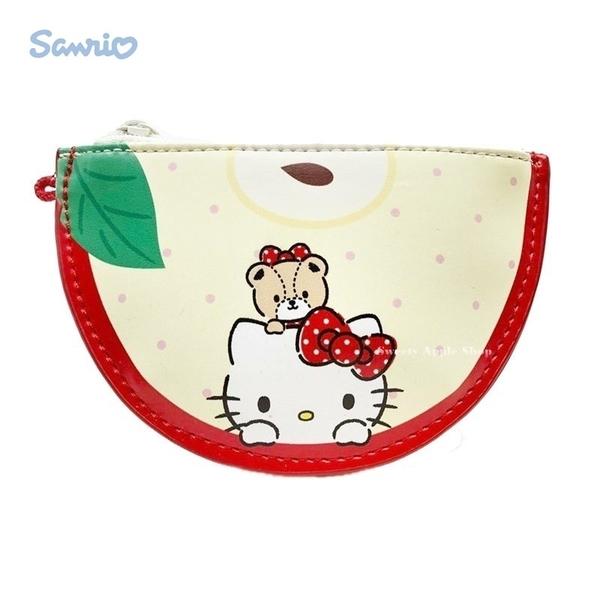 日本限定  HELLO KITTY 凱蒂貓 水果系列  扁平 零錢包 / 收納小袋