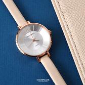 手錶 正韓STACCATO裸膚皮革腕錶 柒彩年代【NEK6】單支