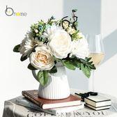歐式絹花假花仿真花裝飾花客廳擺設電視柜創意塑料花藝假花盆栽
