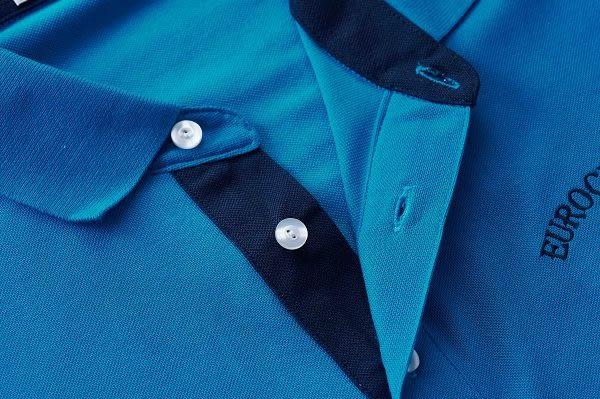 JOHN DUKE 樂活休閒素面POLO衫 - 藍色