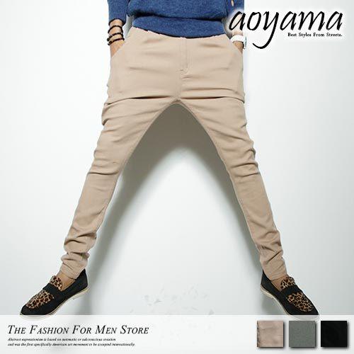 飛鼠褲【A1211】韓國型男時尚穿搭瘦身剪裁彈力飛鼠版型工作褲/休閒褲(3色)
