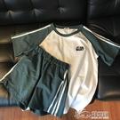 超火cec套裝女夏季2020新款韓版寬松短袖短褲運動休閑兩件套ins潮 好樂匯