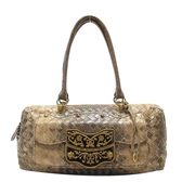 BOTTEGA VENETA 寶緹嘉 棕色蜥蜴皮手提包 Handbag Lizard 166469 【BRAND OFF】