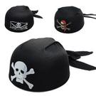 萬聖節用品-骷髏圓形海盜帽子  55g三頂價