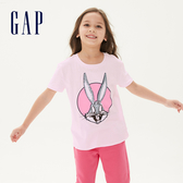 Gap女童Gap x 樂一通卡通動畫系列兔寶寶系列棉質印花圓領短袖T恤546050-櫻花粉