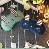 韓國可愛睡眠眼罩女遮光透氣兒童眼罩耳塞防噪音三件套緩解眼疲勞