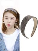 髮箍 頭飾發卡發箍韓國簡約寬邊網紅發帶百搭外出壓發夾女成年發捆頭箍