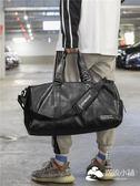 運動包-獨立鞋位短途旅行包健身包潮女瑜伽運動訓練包男PU防水手提旅行袋