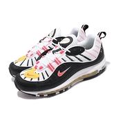 【六折特賣】Nike 休閒鞋 Air Max 98 黑 白 男鞋 運動鞋 氣墊 【ACS】 640744-016