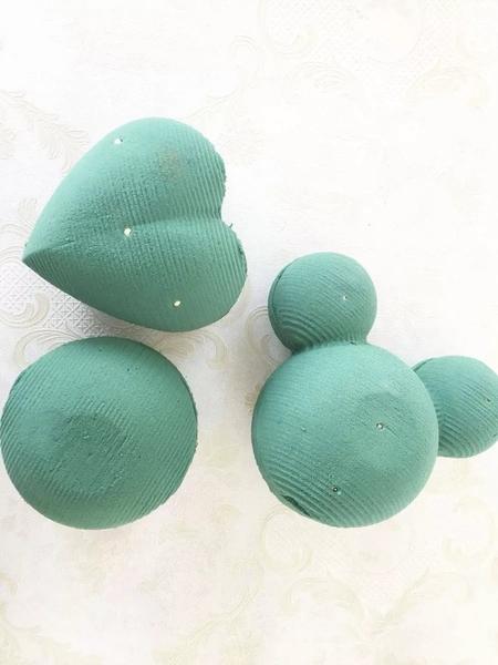 造型花泥(3D米奇,愛心,圓型)不含花材