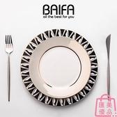 北歐盤子碟子餐具歐式西餐牛排餐盤湯盤魚盤【匯美優品】