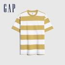 Gap男裝 棉質舒適條紋短袖T恤 592502-黃色條紋