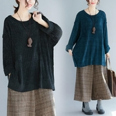 大尺碼女裝胖mm蝙蝠袖T恤寬鬆秋冬裝 針織打底衫女韓版上衣顯瘦 降價兩天