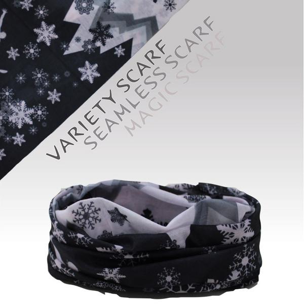 速乾 吸濕排汗材質 自行車頭巾/魔術頭巾/個性頭巾(1515-8 黑白雪山)【戶外趣】