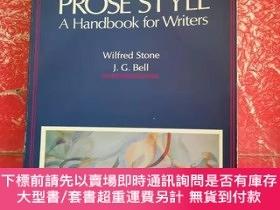 二手書博民逛書店PROSE罕見STYLE: A Handbook for WritersY287213 Wilfred Sto