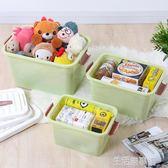 收納箱衣服玩具整理箱塑料有蓋家用衣物儲物盒子特大號三件套 生活樂事館