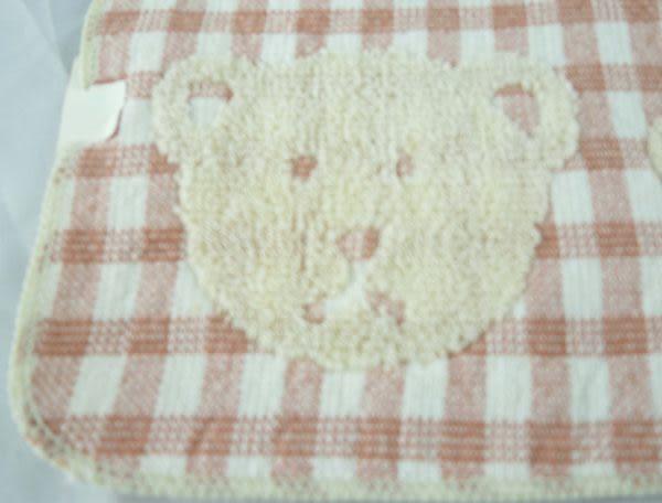 【震撼精品百貨】日本泰迪熊~方巾『紅格紋-五隻熊』