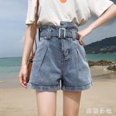 胖MM超高腰牛仔短褲女2020新款夏季外穿百搭顯瘦闊腿寬鬆a字熱褲 DR35108【美鞋公社】
