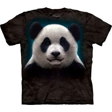 【摩達客】 (預購) 美國進口【The Mountain】自然純棉系列 熊貓頭 設計T恤(10411045057a)
