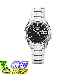[美國直購] Seiko Men s 男士手錶 SNKK71 5 Stainless Steel Black Dial Watch
