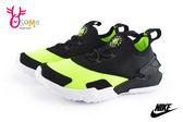 NIKE小童武士鞋 經典 套式 Huarache Drift (TDE) 寶寶休閒鞋O7063#黑黃◆OSOME奧森童鞋