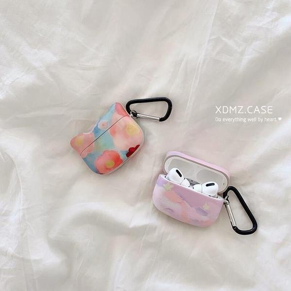 油畫花朵耳機套適用AirPods保護套12Pro蘋果個性創意男女硅膠潮