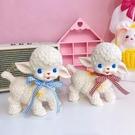 創意擺件 超可愛日式復古昭和小羊膠皮羊娃娃少女心桌面擺件裝飾卡通玩具【快速出貨八折下殺】