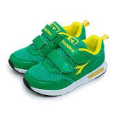 LIKA夢 DIADORA 18cm-23cm 輕量寬楦慢跑鞋 繽紛馬卡龍系列 綠黃 3885 中童