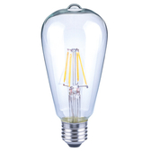 (組)特力屋仿古LED燈絲燈泡6.5W-透明玻璃全電壓 3入