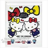 〔小禮堂〕Hello Kitty 方型折疊鏡《白.mimmy》立鏡.折鏡.桌鏡 4713791-95717