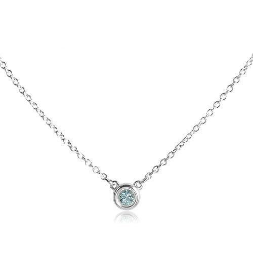 Tiffany&Co.正品 全新 Elsa Peretti系列 純淨圓形海藍寶石 925純銀 項鍊 禮物 情人節 女友 生日