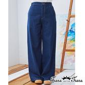 【Tiara Tiara】百貨同步ss   經典百搭寬版牛仔褲(深藍/淺藍)