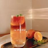 玻璃杯果汁杯飲品杯氣泡水杯冷飲杯酸奶杯甜品杯奶茶杯子【輕奢時代】
