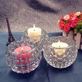 歐式現代創意婚慶酒吧生日圓柱形玻璃蠟燭台擺件 黛尼時尚精品