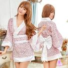 日系甜美粉白改良和服角色扮演服三件組 | OS小舖