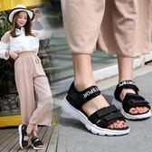 韓版時尚沙灘羅馬涼鞋學生百搭休閒鞋鬆糕涼鞋女鞋