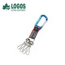 【LOGOS 日本 印地安鑰匙圈 藍】72685104/鉤環/D型環/掛勾/鑰匙圈
