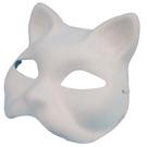 貓面具 彩繪面具 (狐狸面具)附鬆緊帶/一個入(定40) 貓頭面具 -AA3966