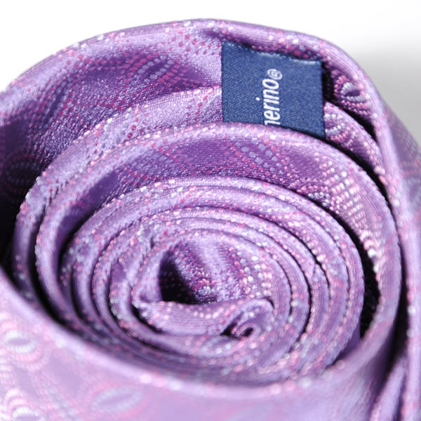 Roberta di Camerino 諾貝達葉形圖紋領帶-紫