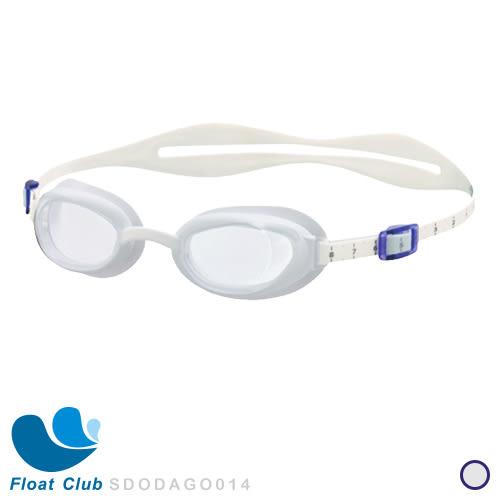 Speedo - 成人女用進階型泳鏡 Aquapure 白-透明