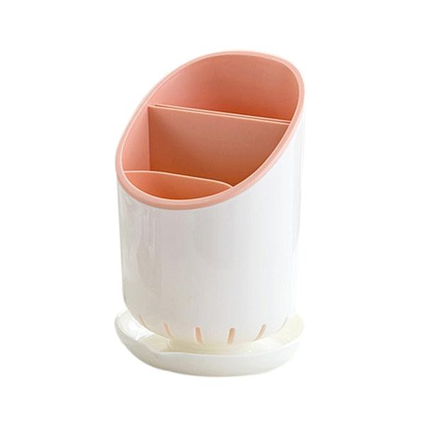 [7-11限今日299免運]餐具收納筒 餐具分層收納瀝水筒 廚房用品 分隔瀝水筒✿mina百貨✿【F0210】
