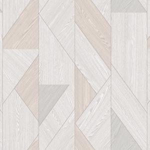 歐NINE壁紙-淺米 三角仿木紋 86051