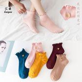 雙12購物節花邊襪子女韓國日系春秋冬刺繡愛心可愛純棉短襪韓版時尚少女棉襪mandyc衣間