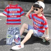 童裝男童夏裝套裝新款韓版兒童夏季洋氣中大童男孩帥氣夏款潮(聖誕新品)
