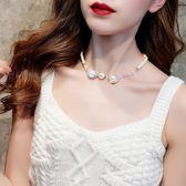 珍珠項鏈女小衆鎖骨鏈網紅項圈性感百搭choker短款脖子飾品頸帶