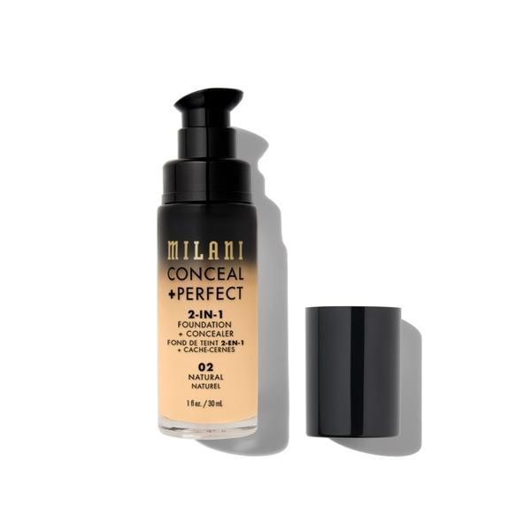 Milani Conceal + Perfect 完美零瑕二合一遮瑕粉底液 02 Natural 30ml