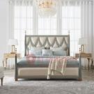 [紅蘋果傢俱]美式 後現代 輕奢 ML6709床 床架 雙人床 布床 臥室 房間