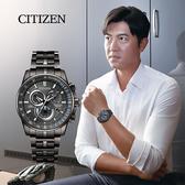 加碼第3年保固*CITIZEN 星辰 廣告款光動能萬年曆電波錶-43mm CB5887-55H
