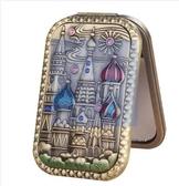俄羅斯長方形雙面小鏡子折疊隨身鏡子迷你復古便攜化妝鏡